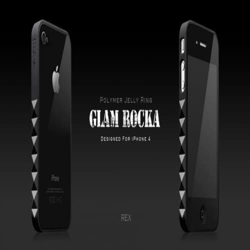 More Thing Black Rex Glam Rocka Jelly Ring iPhone 4 Bumper Case