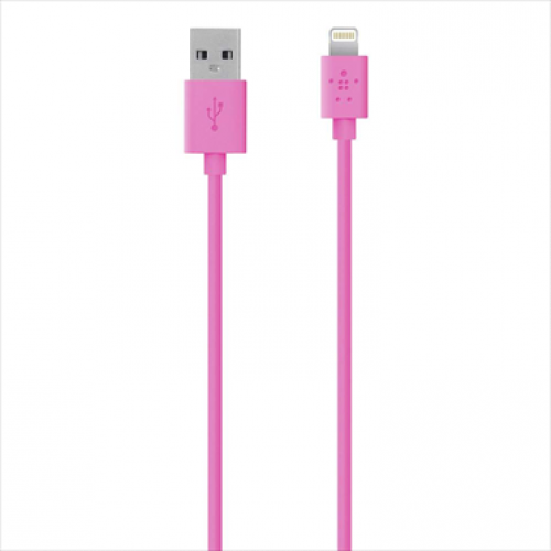 Belkin MIXIT Lightning to USB ChargeSync Cable 4 feet Pink