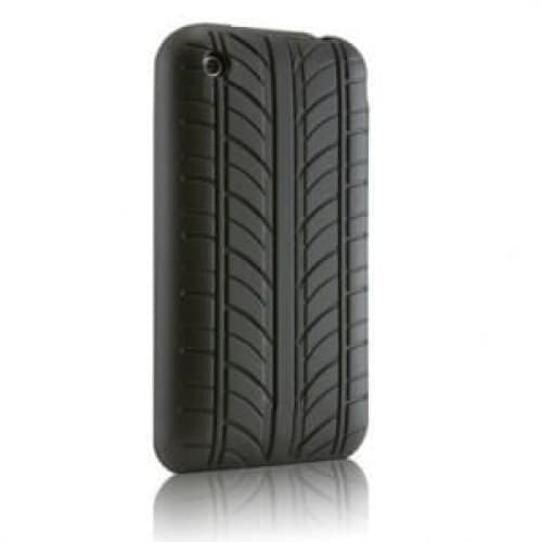 VROOM Black Tire Tread Silicone Case for iPhone 3G 3GS