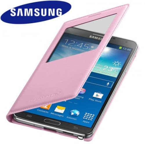 Original Samsung Galaxy Note 3 S-View Cover Blush Pink
