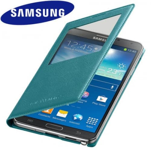 Original Samsung Galaxy Note 3 S-View Cover Blue Lime