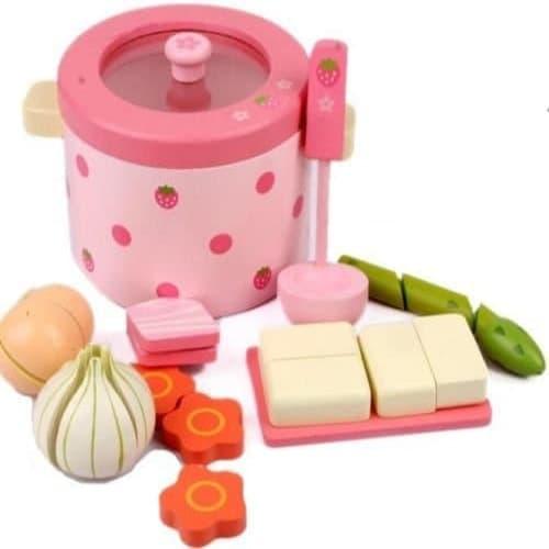 Mother Garden Handmade Wooden Pretend Play Toy--Vegetables Pot Set