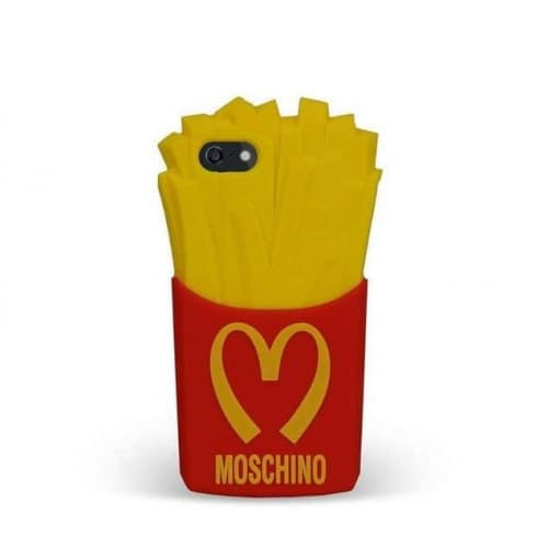 3D Moschino French Fries Fry Silicone Case for iPhone 5 5s 5c