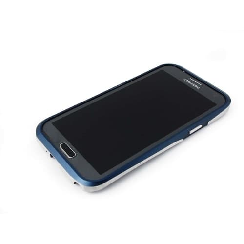 Samsung Galaxy Note 2 Draco Thunder Blue Aluminum Bumper Case