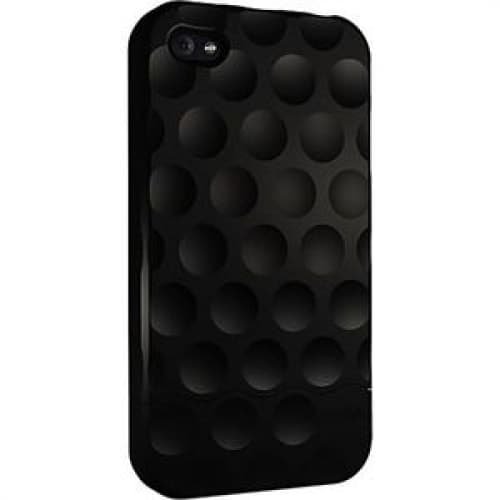 Hard Candy Soft Touch Black Bubble Slider Case for iPhone 4