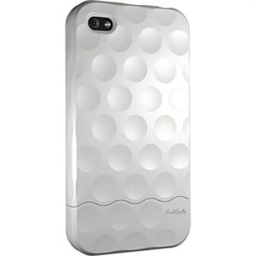 Hard Candy Soft Touch White Bubble Slider Case for iPhone 4