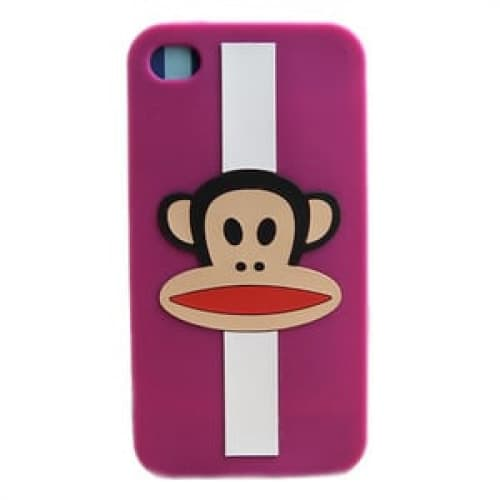 Paul Frank Julius Purple Stripe Case for iPhone 4 4S