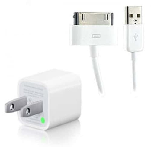 USB Power Adapter with 3ft 6ft 9ft Sync Extension Cable for iPhone and iPod (USA)