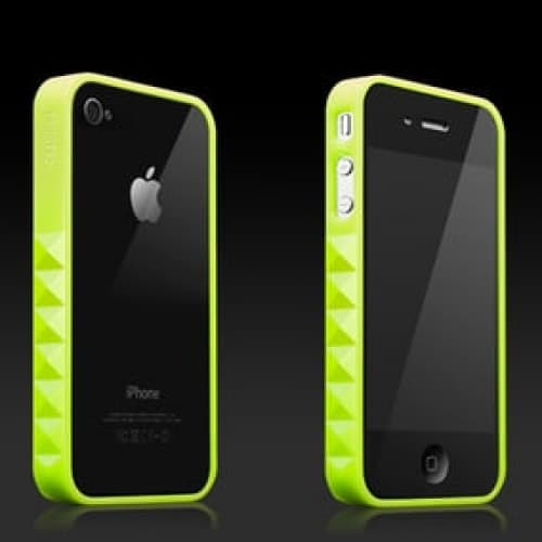 More Thing Neon Green Slade Glam Rocka Jelly Ring iPhone 4 Bumper Case