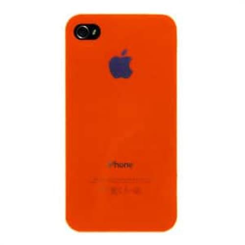 iPhone 4 4S Luminosity Series Hard Plastic Cover Apple Logo Case Orange