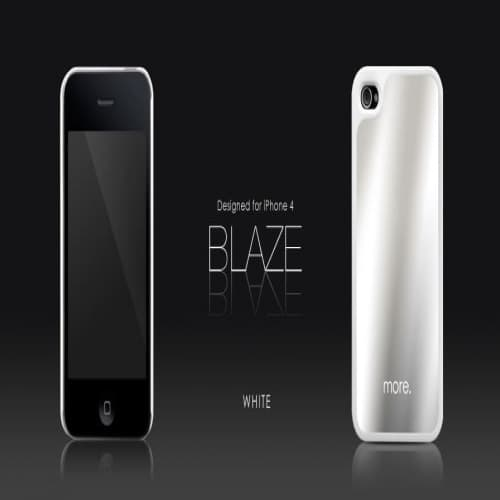 More Thing Blaze Collection White iPhone 4 Case