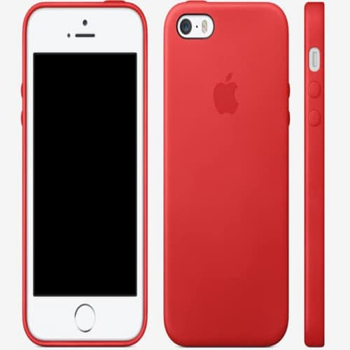 Leather Case for Apple iPhone 5s Case Red