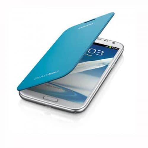 Samsung Galaxy Note II Flip Cover Light Blue