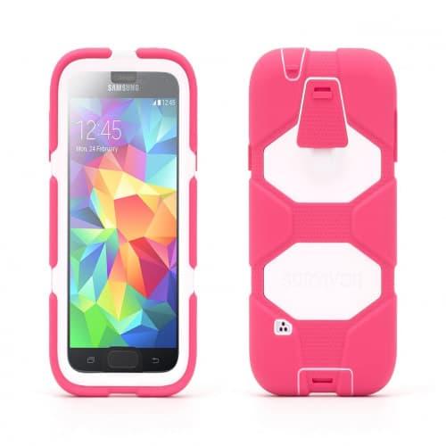 Griffin Survivor for Samsung Galaxy S5 Pink White