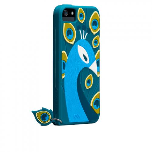 Case Mate Silicone Peacock Case for iPhone 5