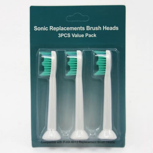Pack of 3 Toothbrush Replacement Brush Heads for Philips Sonicare Proresults HX6013