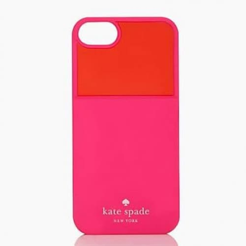 Kate Spade Color Block Pocket Silicone Credit Card Case for iPhone 5 5s Pink