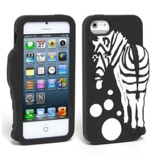 Marc Jacobs Zoody Zebra Raised Case iPhone 5 5s Black Multi
