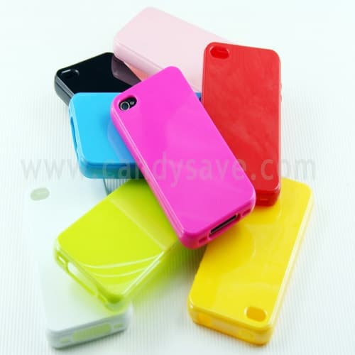 Aero Seamless TPU Jelly Candy Color Case Soft Shell for iPhone 4