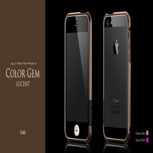 more Color Gem Lucent Jelly Ring for iPhone 5 Gold