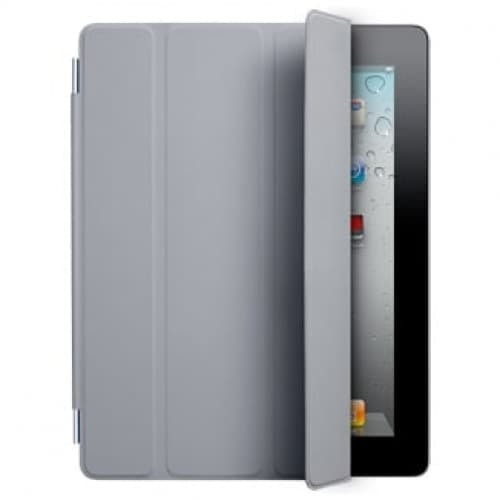 Smart Cover for Apple iPad 2 and the new iPad- Polyurethane Light Gray