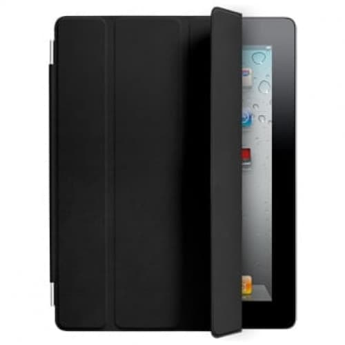 Smart Cover for Apple iPad 2 and the new iPad - Black Leather