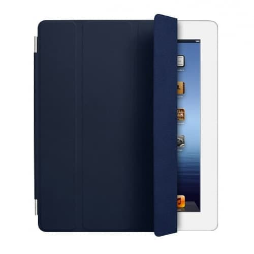 iPad Smart Cover - Navy Blue Leather