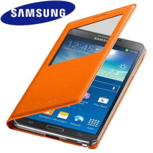 Original Samsung Galaxy Note 3 S-View Cover Wild Orange