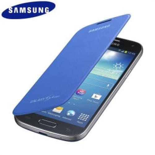 Samsung Galaxy S4 Mini Flip Cyan Case Cover