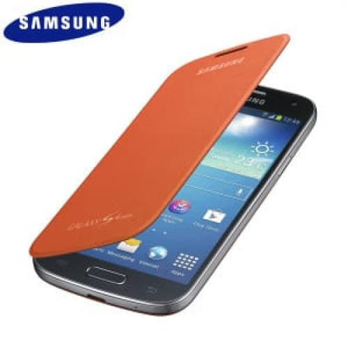 Samsung Galaxy S4 Mini Flip Orange Case Cover