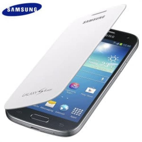 Samsung Galaxy S4 Mini Flip White Case Cover