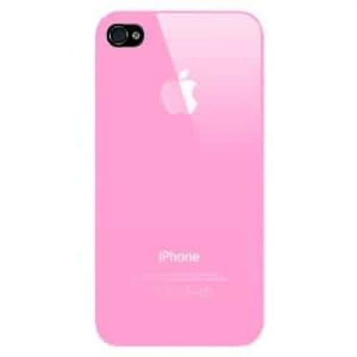 iPhone 4 4S Luminosity Series Hard Plastic Cover Apple Logo Case Pink