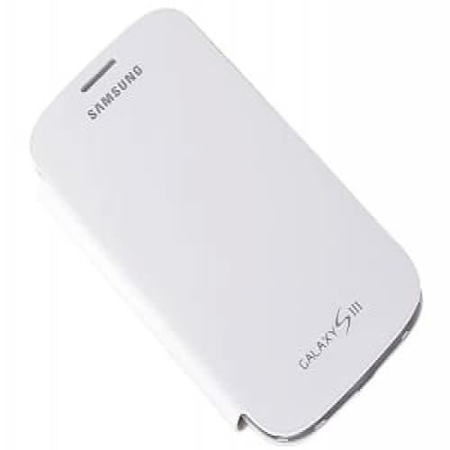 Samsung Galaxy S3 S III Flip Cover - Marble White