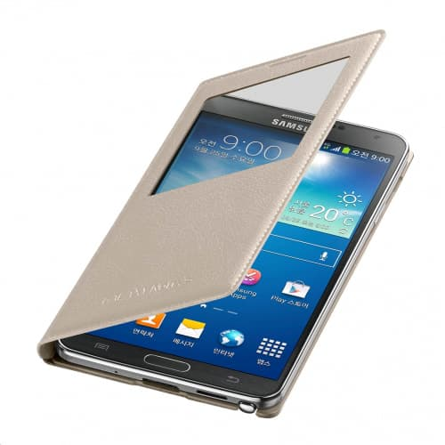 Original Samsung Galaxy Note 3 S-View Oatmeal Cover