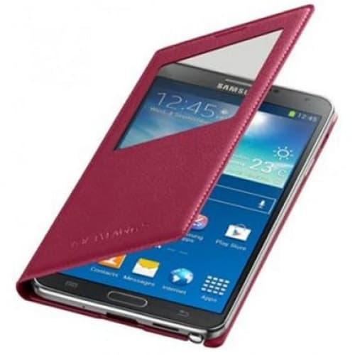 Original Samsung Galaxy Note 3 S-View Cover Plum Magenta