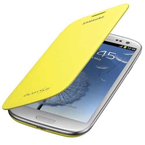 Samsung Galaxy S3 S III Flip Cover - Yellow