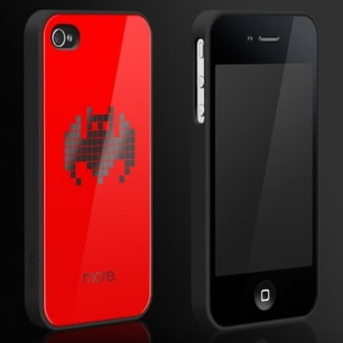 More Cubic Black Exclusive Collection TPU Case for iPhone 4/4S - Bat