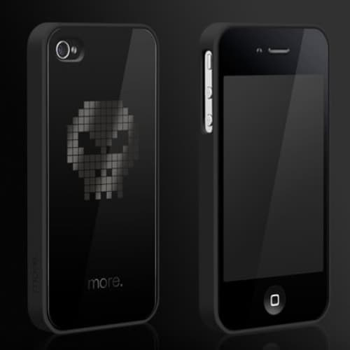 More Cubic Black Exclusive Collection TPU Case for iPhone 4/4S - Skull