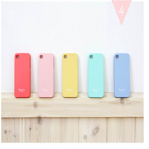 Happymori Silicon Jelly Sherbet Pastel Colors Phone Case for iPhone 4