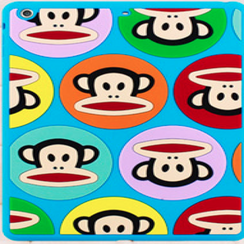 Paul Frank Silicone Case for iPad Air Talkative Monkey Blue Multi Julius