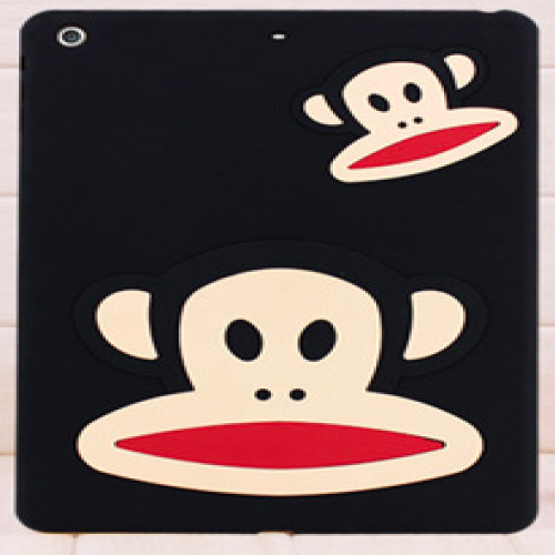 Paul Frank Silicone Case for iPad Air Black Double Mouth Monkey Julius