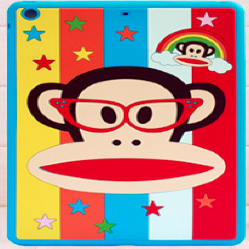 Paul Frank Silicone Case for iPad Air Rainbow Monkey Blue Glasses Julius