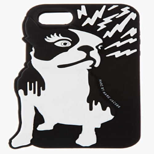 Marc Jacobs Olive Raised iPhone 5 5S Case Black Multi