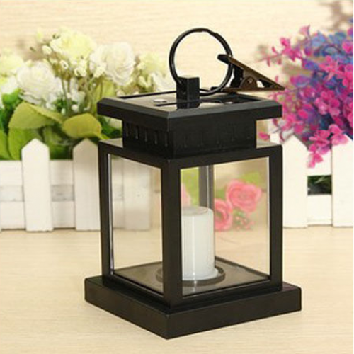 Solar Power LED Candle Style Lantern for Camping and Gardens