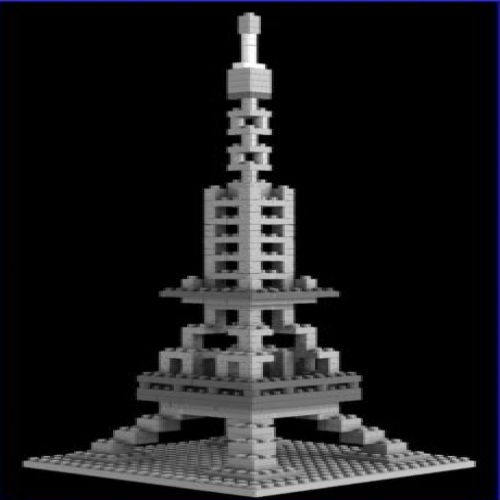 Loz Nano Block Architecture Series Paris Eiffel Tower