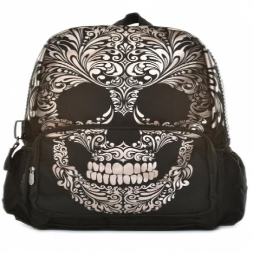 Mojo Backpacks Scroll Skull School Bag