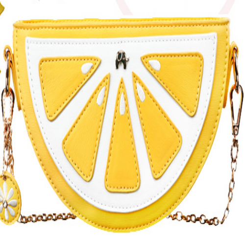 Half Lemon 3D Chain Bag Purse