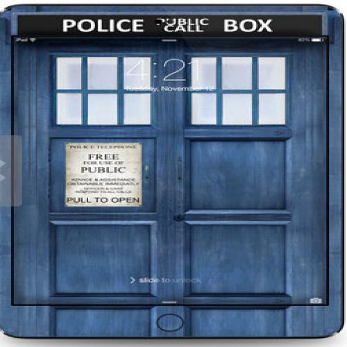 Tardis Doctor Who Police Box Time Machine iPad Air
