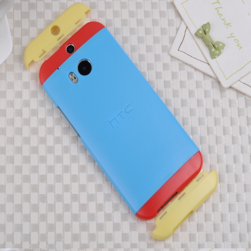 HTC One M8 Original Double Dip Case Blue Red Yellow