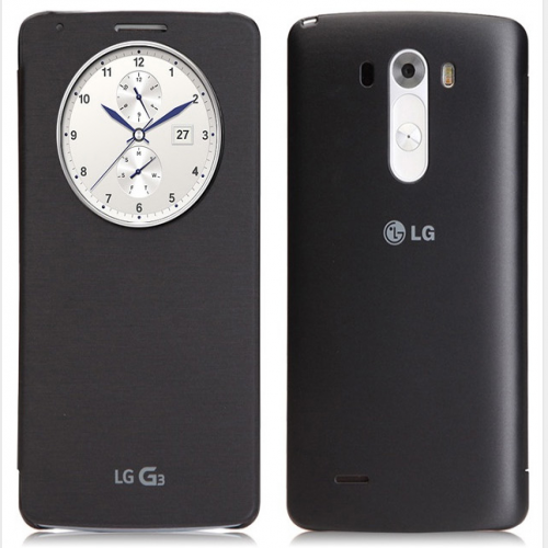 Original LG G3 Quick Circle NFC Wireless Charging Case Metallic Black